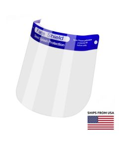 FaceShield1   Adjustable Medical Face Shield with Anti-fog Film and Padding